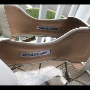 Manolo Blahnik glittered sandal